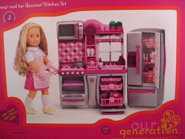 our generation jenny and her gourmet kitchen set the toy box philosopher. Black Bedroom Furniture Sets. Home Design Ideas