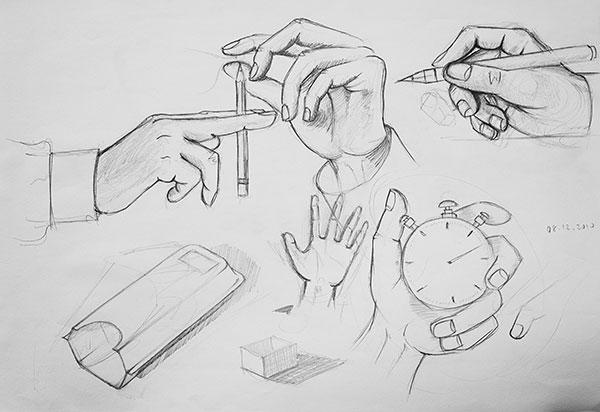 El çizimleri Hand Drawings Resim Derslerinde çizdiklerim