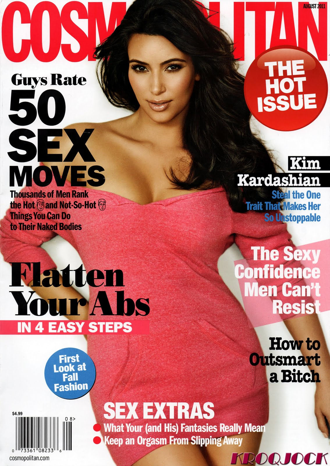 Cover girl kim kardashian on cosmopolitan magazine cover august 2011 1