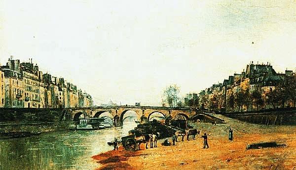 Станислас Лепин. Набережная Сены; Понт-Мари. 1868.
