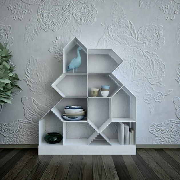 desain rak dinding modular magnetik desain rumah modern