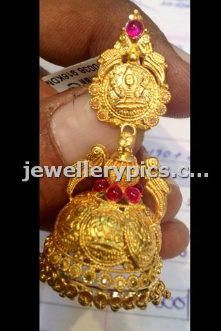 15gram Kasu Buttalu In Gold With Lakshmi Devi Print