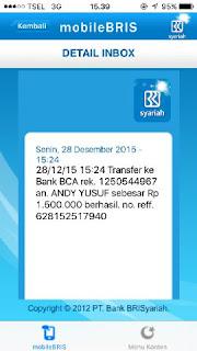 Bukti Transfer Idblackmarket desember 2015