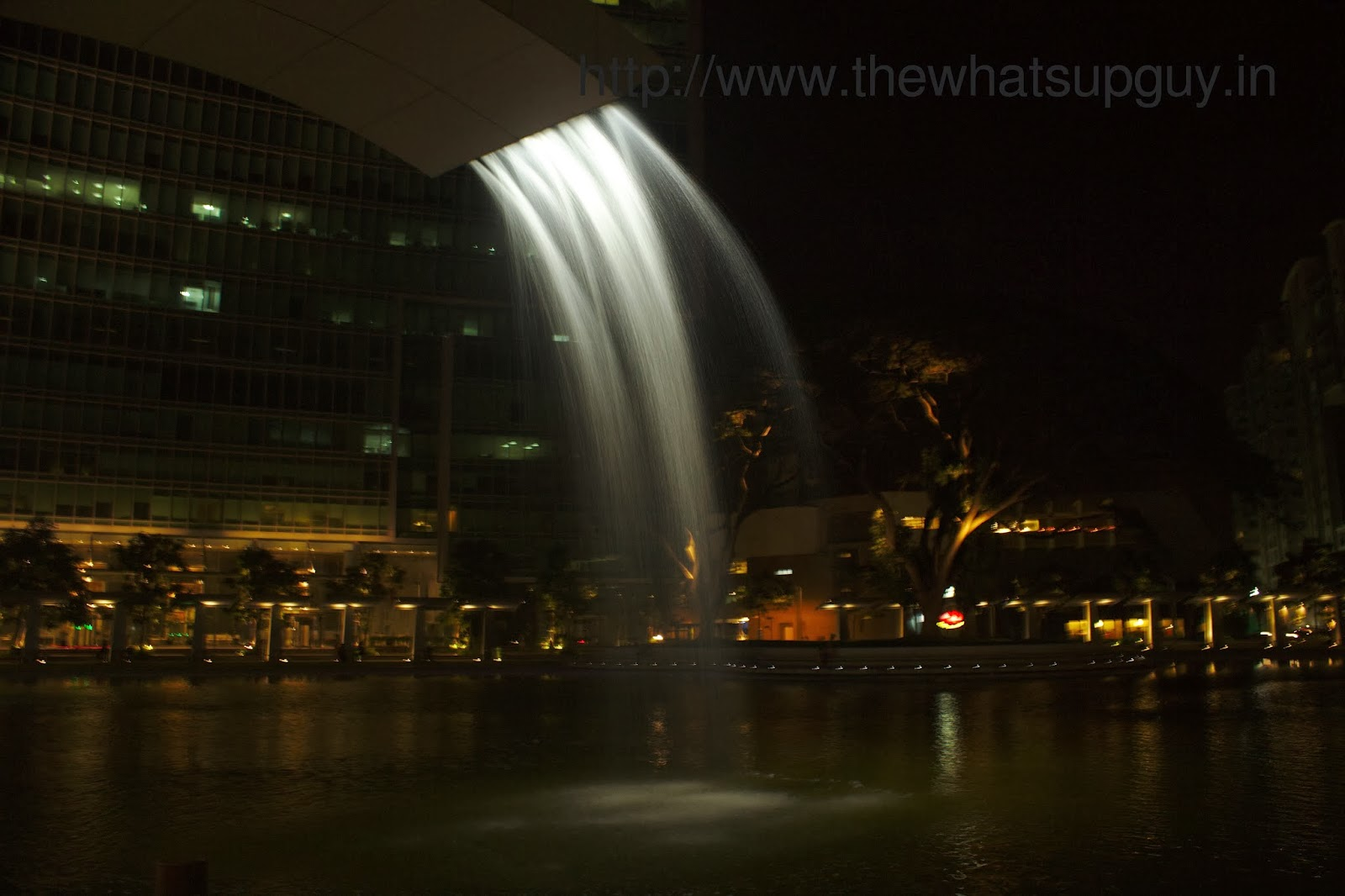 Fountain At Orion Mall Bangalore In The Night
