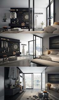 ... soveroms inspirasjon, interiør inspirasjon soverom, grått soverom
