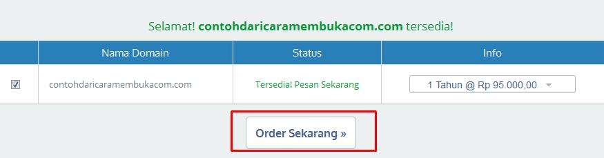 pilih Order sekarang