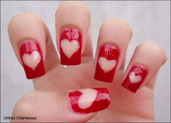 Nail Art de Coração