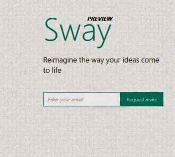 """"""" Sway """" المنصة الجديدة من مايكروسوفت لتصميم صفحات الإنترنت"""