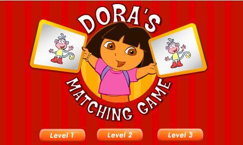 juego doras matching game