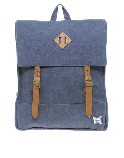 blue herschel backpack