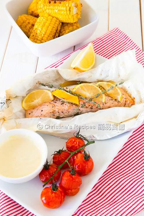 焗紙包三文魚 Baked Salmon Parcel02