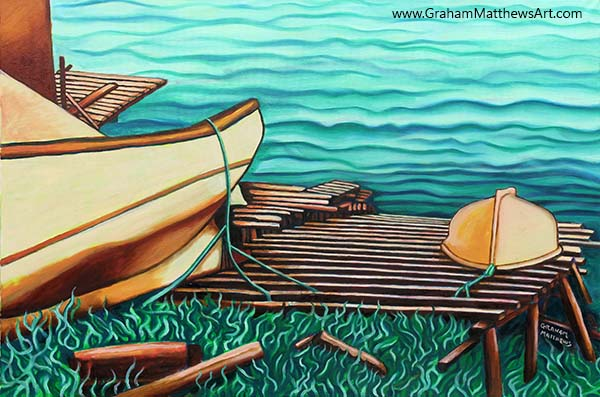 Boats on the Slipway - Painting