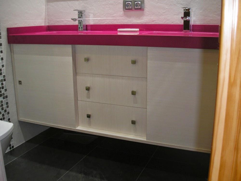 Mueble de lavabo a medida muebles cansado zaragoza - Mueble puertas correderas ...