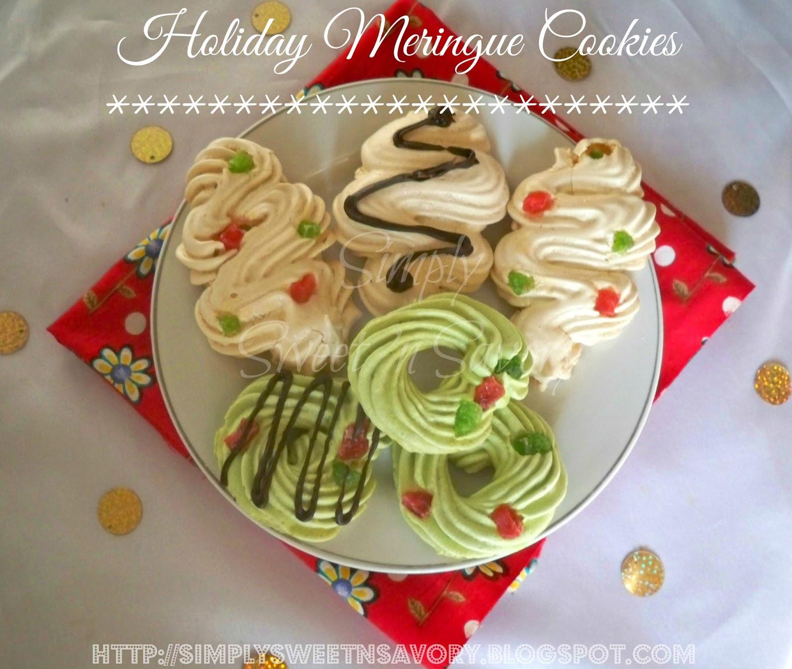Simply Sweet N Savory Holiday Meringue Cookies