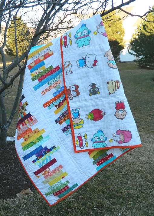 Book Cover Handmade Quilts : S o t a k handmade stacked books quilt