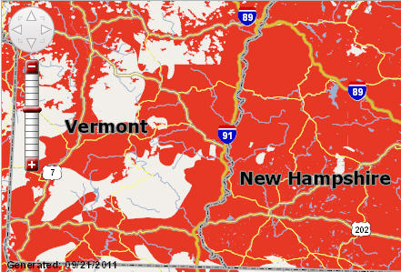 The Good Life Verizon Vs ATT For The New IPhone - Verizon coverage map nh