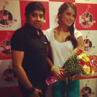 Bipasha Basu promotes Raaz 3 at different radio stations
