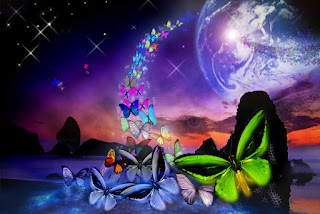 butterfly fantasy space
