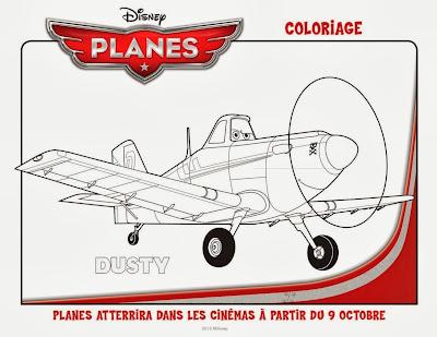 coloriage à imprimer dessin animé Planes Disney
