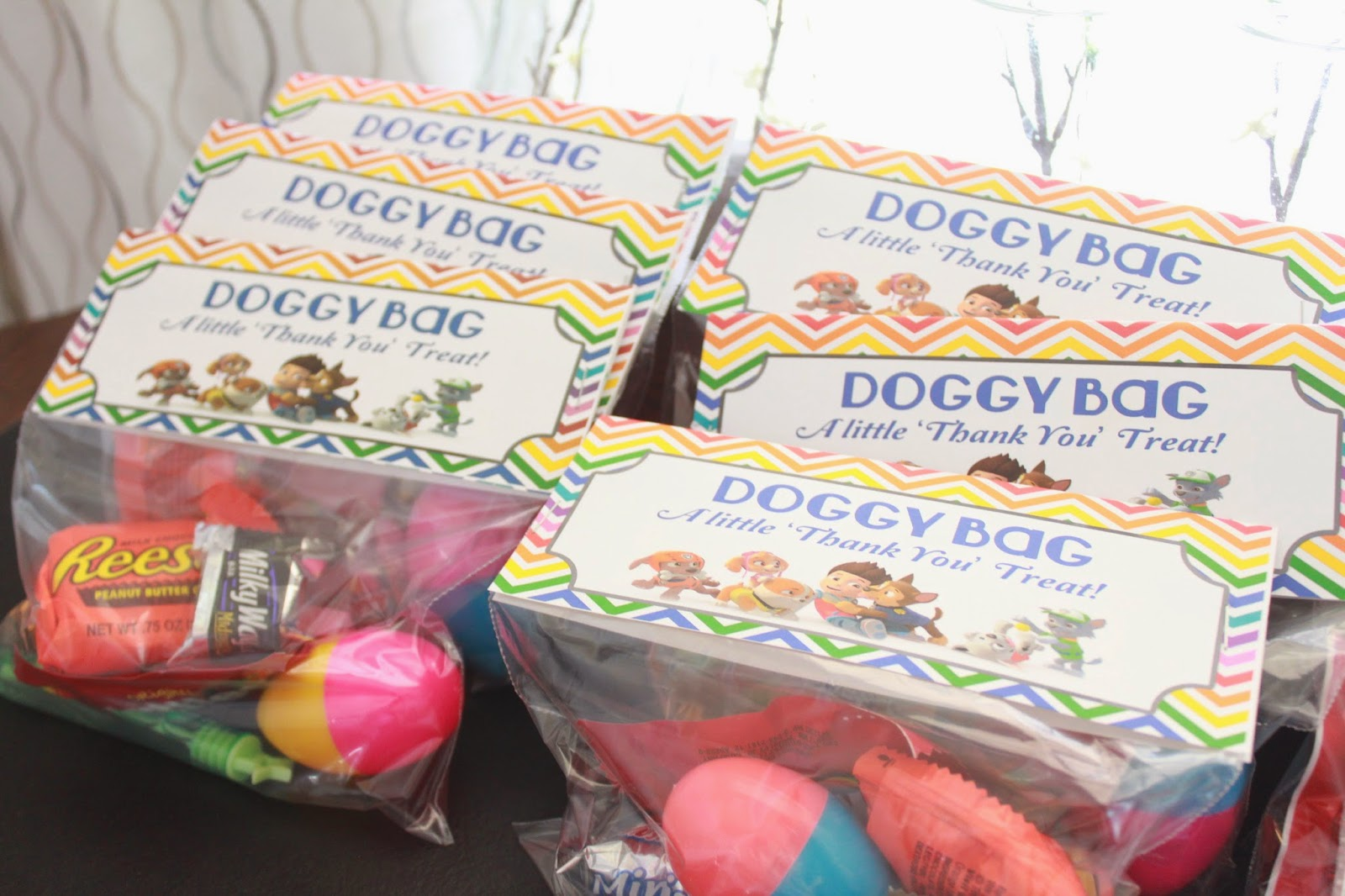 paw patrol birthday treat bags doggy bags
