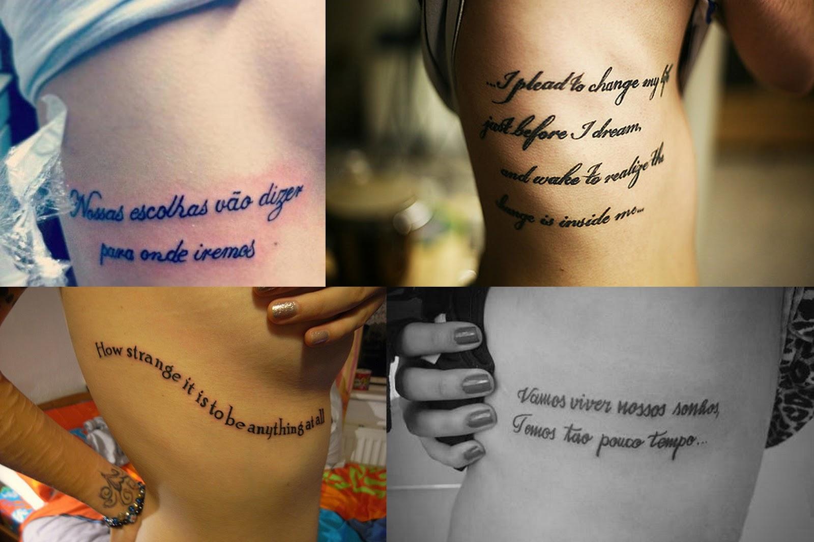 Inspirao Tatuagens de frases Pequenas Infinidades