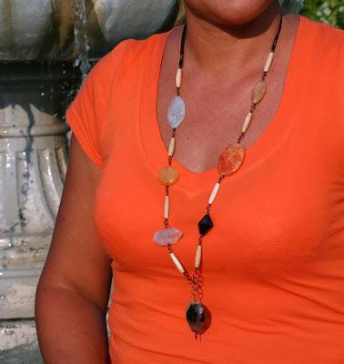'The Elements' necklace: jade, agate, quartz, semi-precious stones :: All Pretty Things