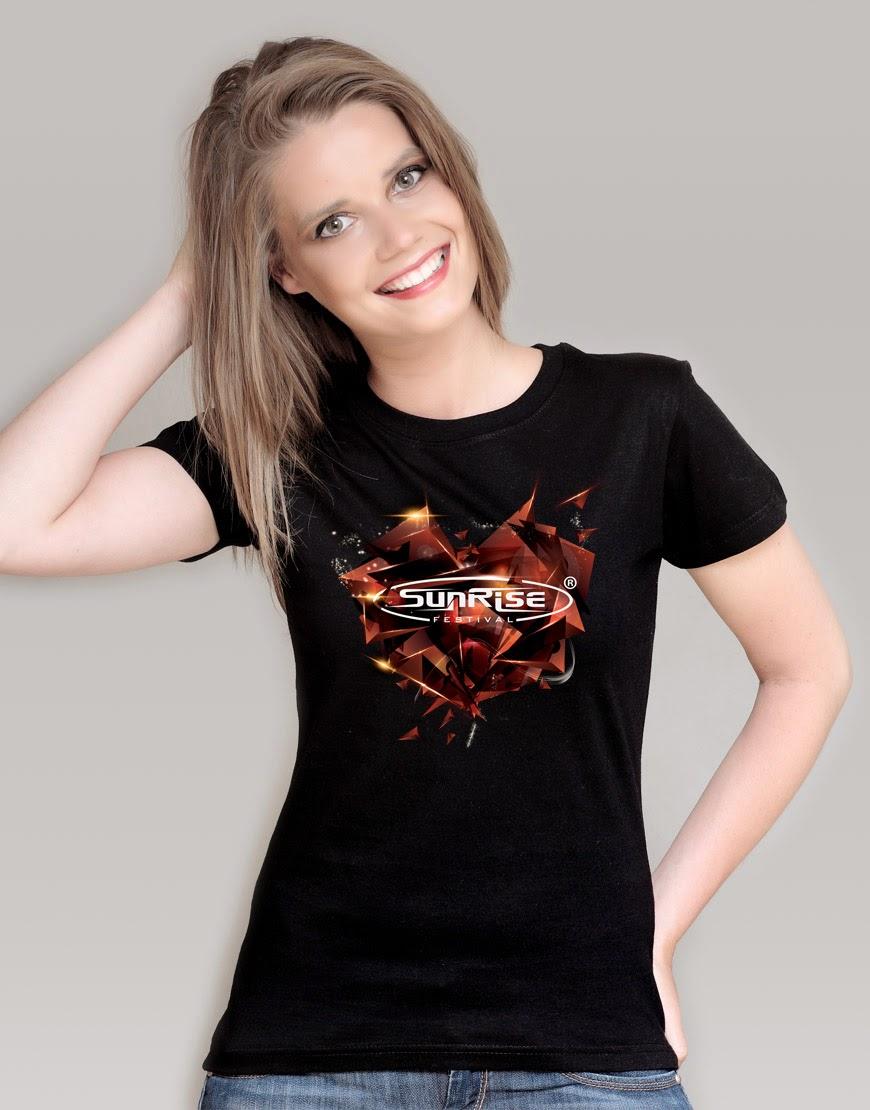 Sunrise - koszulka czarna damska