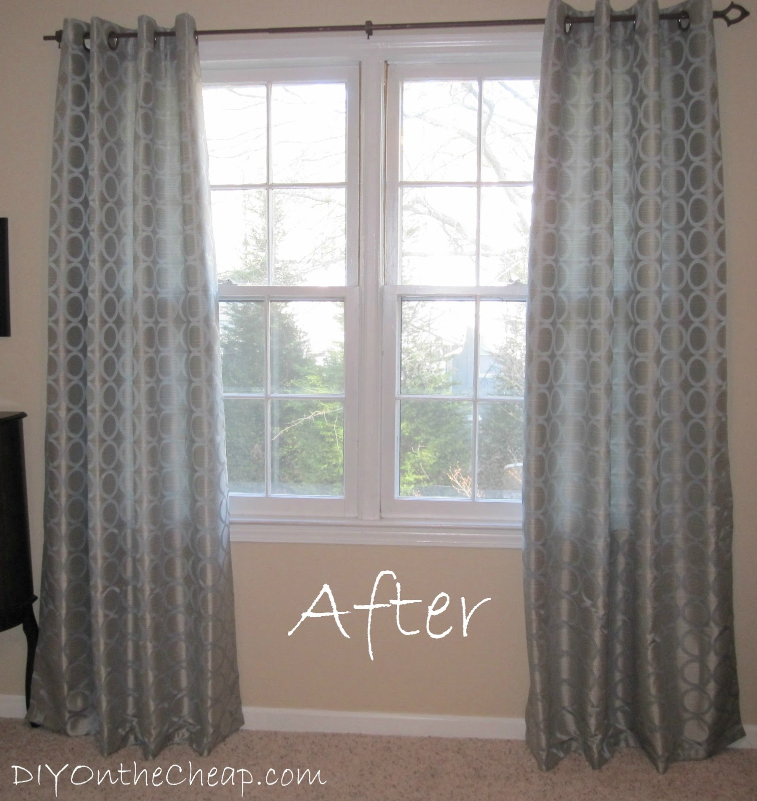 we plan on re doing our bedroom this spring diy style and on the cheap of course we will be painting all of the furniture and eventually this space - How To Hem Curtains