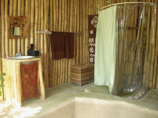 The Bathroom With Bamboo Etnic Interior Design