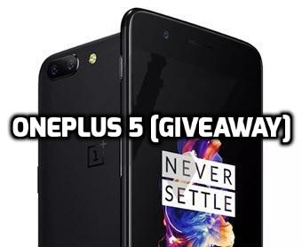 OnePlus 5 Giveaway