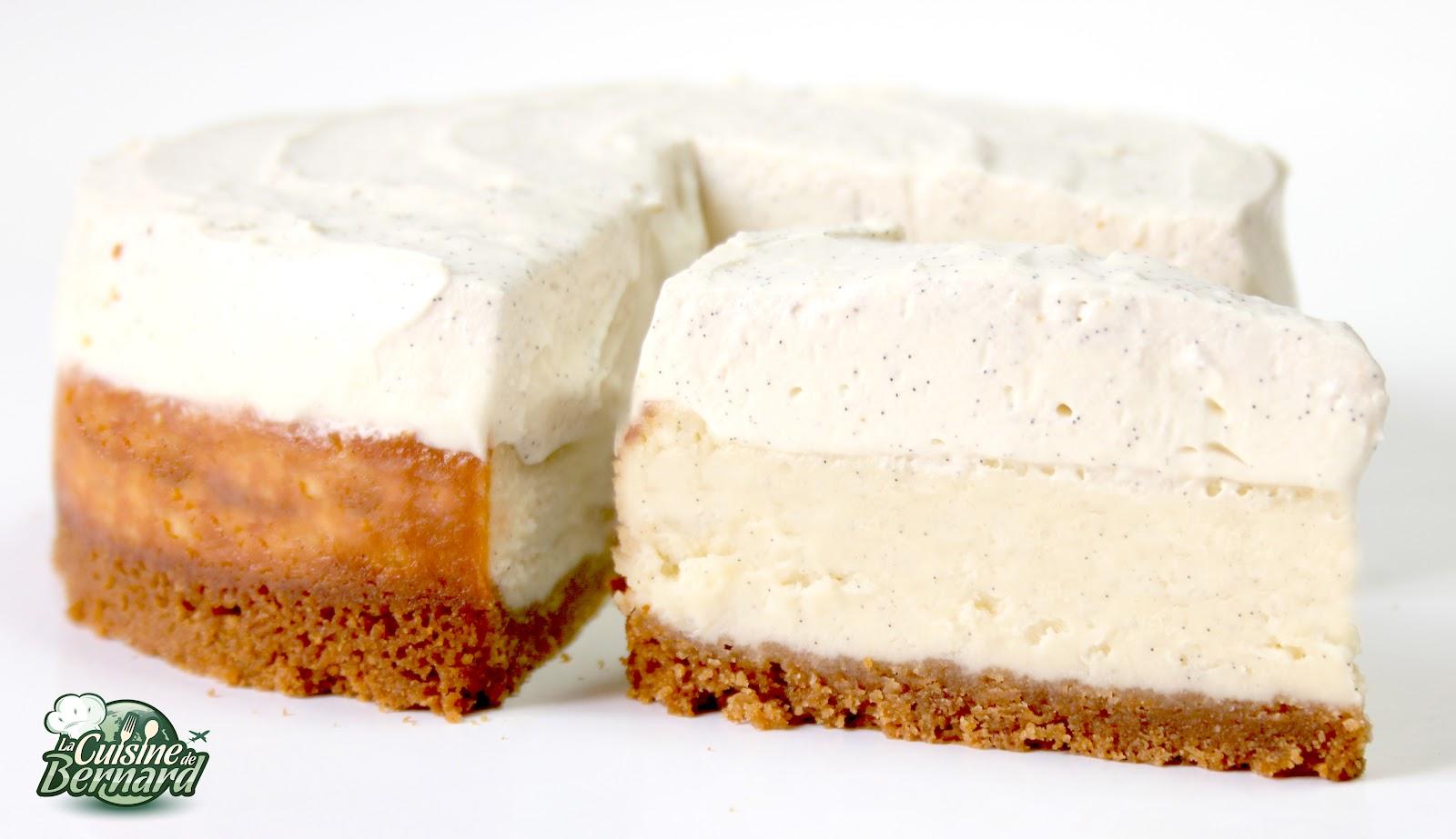 la cuisine de bernard : cheesecake double vanille