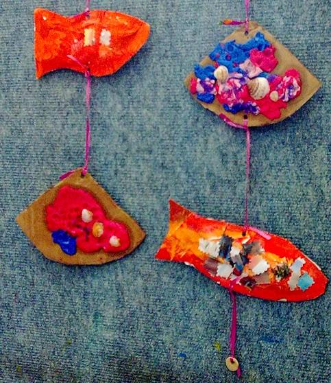 visual art instructor summer mobil fish seashells special ed