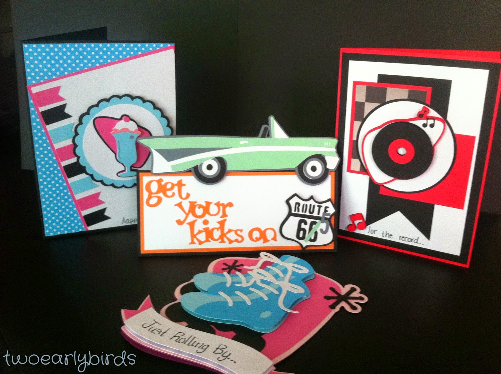 Cool Birthday Cards For Dad ~ Two early birds happy birthday mom dad