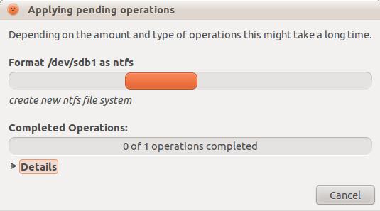 ubuntu usb stick formatieren