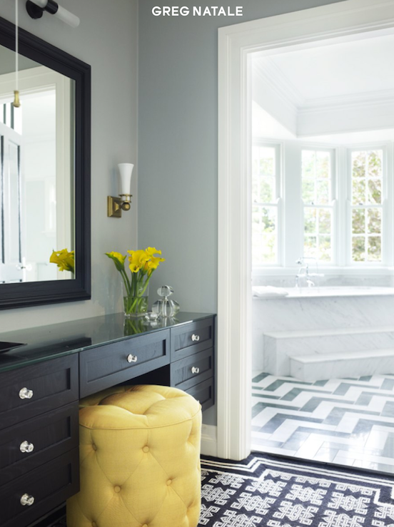 jadore decor black and yellow bathroom