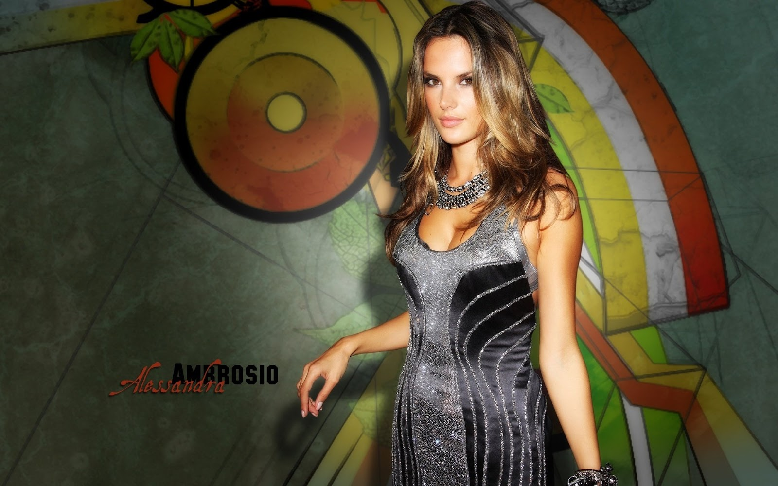 Alessandra Ambrosio Black Dress