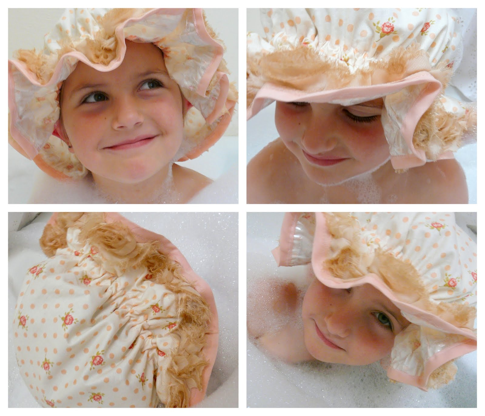 Jennuine by Rook No 17 Shabby Chic Mob Cab Shower Cap Tutorial