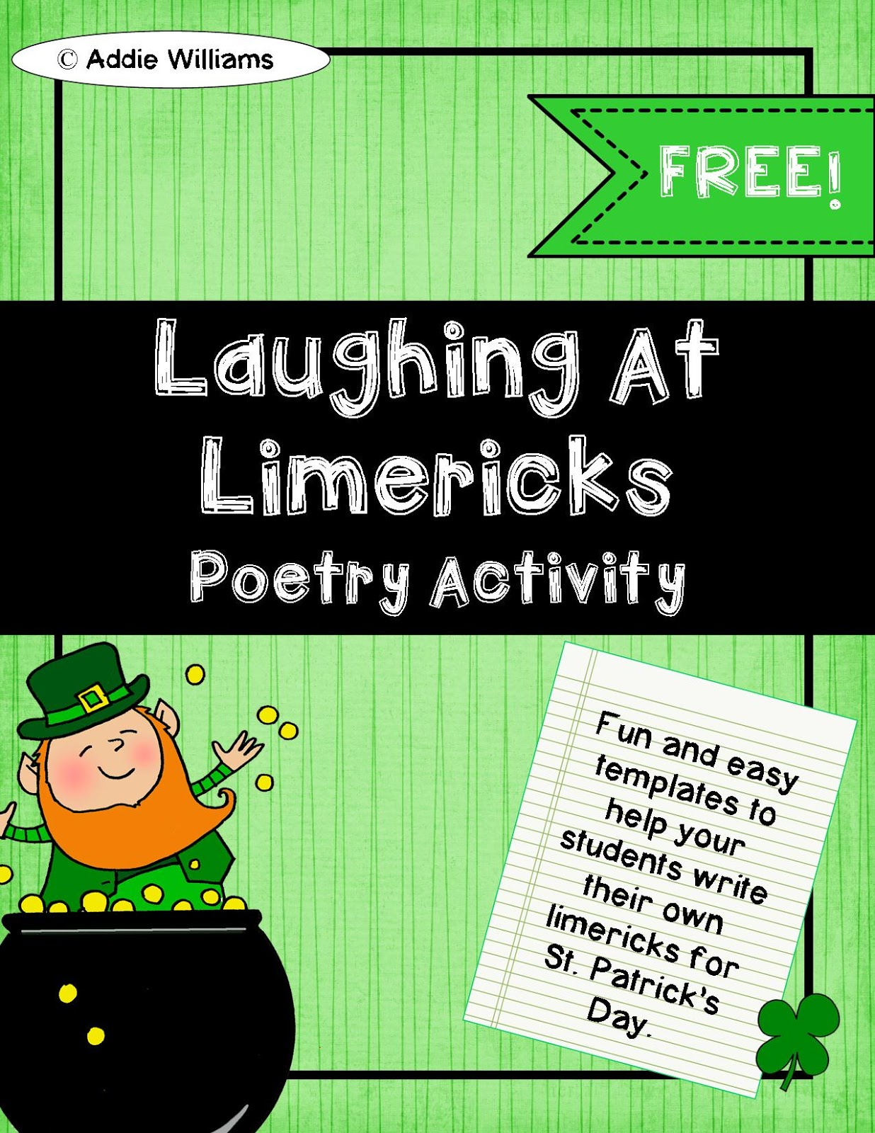 Classroom Freebies Too: Limerick Writing Templates