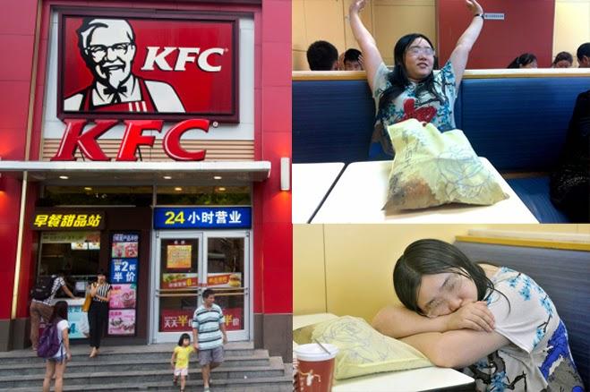 AKIBAT PUTUS CINTA WANITA INI SANGGUP TINGGAL DI RESTORAN KFC SELAMA SEMINGGU