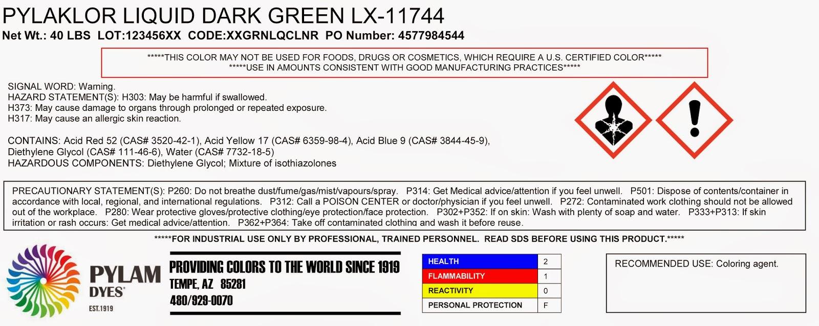 GHS Label