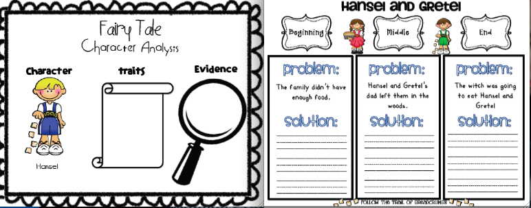 Sarahs First Grade Snippets Even more fairy tale fun – Fairy Tale Worksheets