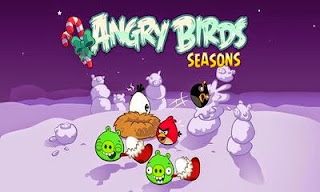 Screenshots of the Angry Birds Seasons Winter Wonderham for Android tablet, phone.