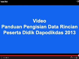 PANDUAN PENGISIAN DATA RINCIAN PESERTA DIDIK APLIKASI DAPODIKDAS 2013