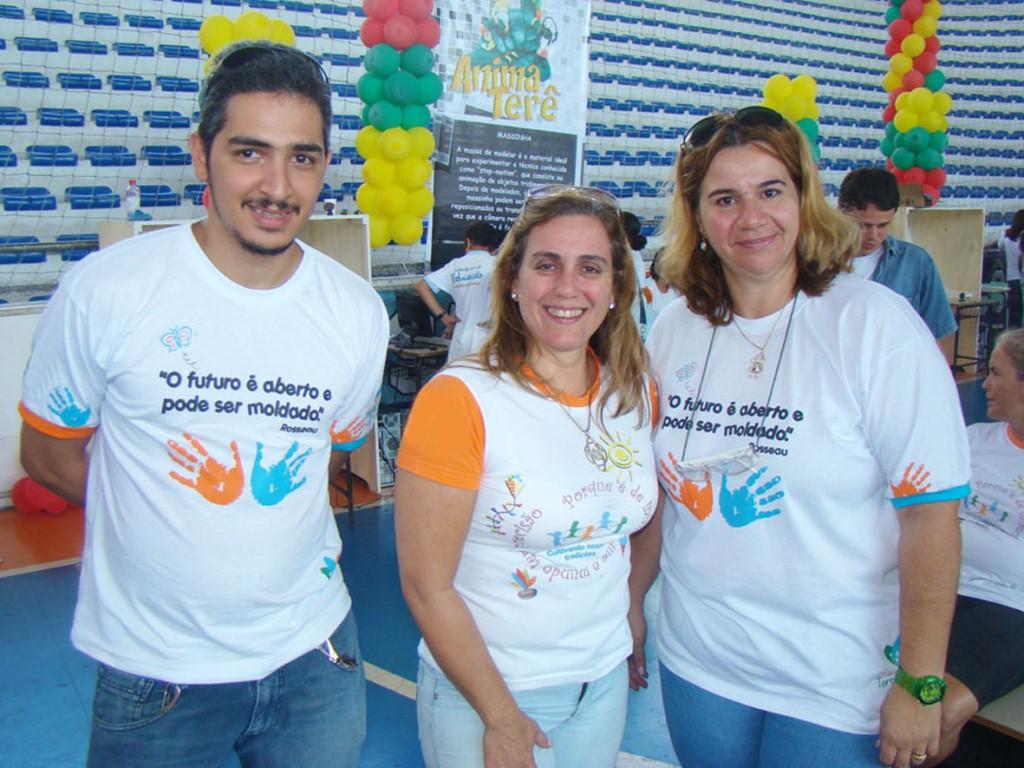 Anderson Mota, Bernadete Duarte e Ana Geanette, do Serviço de Tecnologias Educacionais, esperam a participação de um público recorde na 4ª edição do ANIMA TERÊ