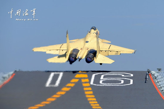J-15 launch from Liaoning CV