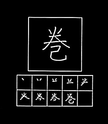 kanji menggulung
