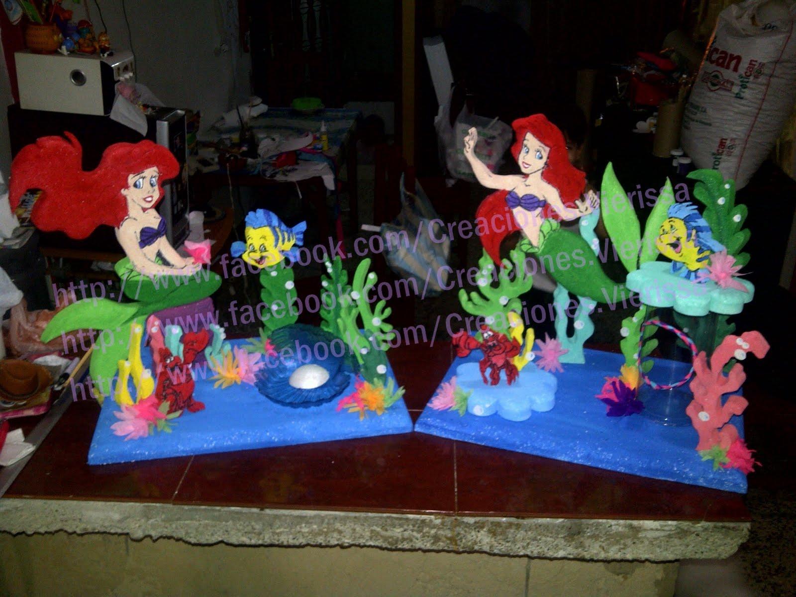 Piñatas CREACIONES VIERISSA: La Sirenita, piñata y chupeteros