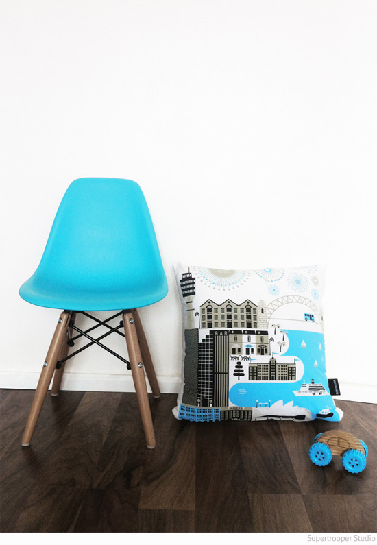 Sydney Scandi-style graphic cushion