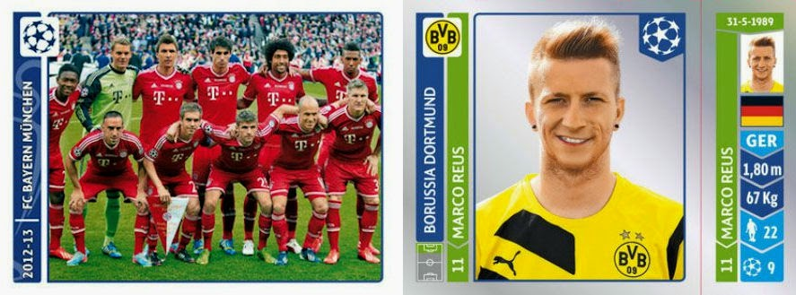 Champion League Cards 2014 Uefa Champions League 2014-15