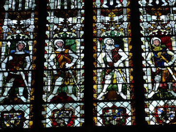 Stained glass window from Tewksbury Abbey